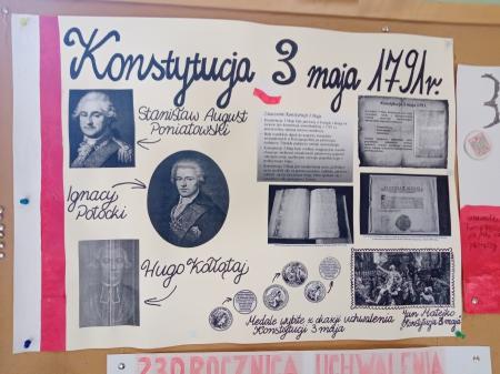 Święto Narodowe 3 Maja jest obchodzone w rocznicę uchwalenia w 1791 roku Konstytucji 3 Maja.